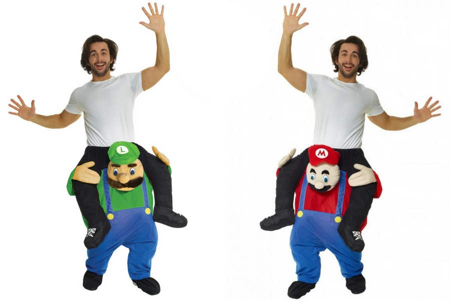 Green & Red Plumber Piggyback Costume