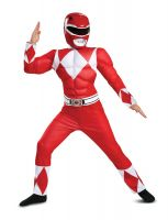 Kids Mighty Morphin Power Rangers Red Ranger Classic Muscle Jumpsuit Outfit