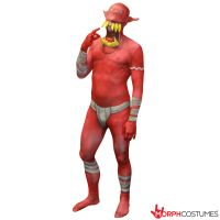 Jaw Dropper Orc Morphsuit - Red