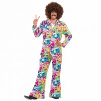 Mens 60s Psychedelic Suit Costume