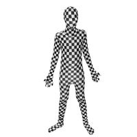 Kids Black and White Check Morphsuit