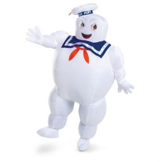 Mens Ghostbusters Stay Puft Marshmallow Man Inflatable Costume