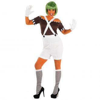 Womens Sexy Chocolate Factory Worker with Shorts Costume