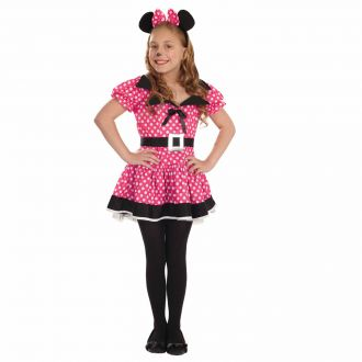 Kids Missie Mouse Pink Dress Costume