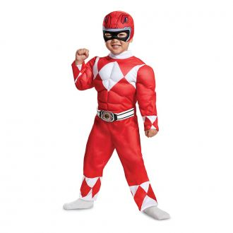 Kids Red Power Ranger Toddler Muscle Suit Costume