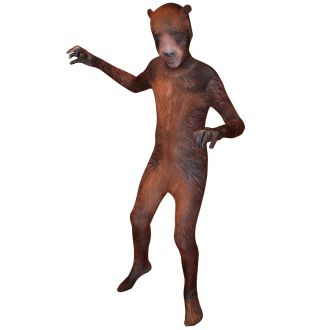Kids Animal Planet Grizzly Bear Morphsuit