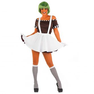 Womens Sexy Chocolate Factory Worker with Skirt Costume