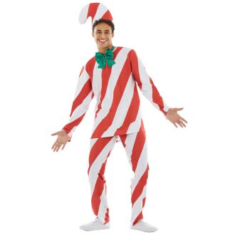 Mens Candy Cane Man Costume