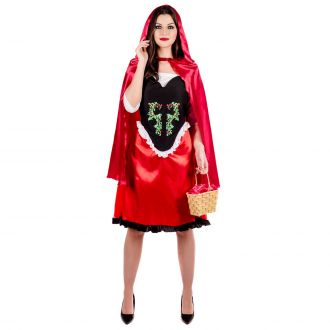 Womens Red Fairytale Cape Costume