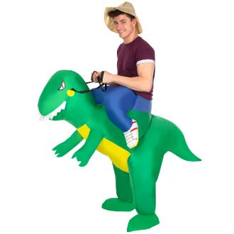 T-Rex Ride On Inflatable Costume