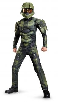 Kids Classic Halo Master Chief Muscle Costume