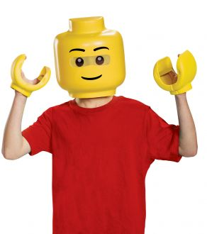 Kids Lego Mask & Hands Costume Accessories Kit