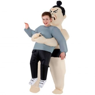 Kids Sumo Pick Me Up Inflatable Costume