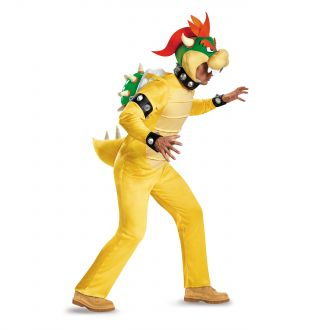 Super Mario Bowser Deluxe Adult Costume